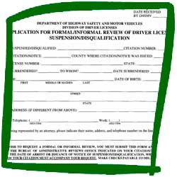 Florida DHSMV Formal Review Driver's License Suspension or Disqualification Forms